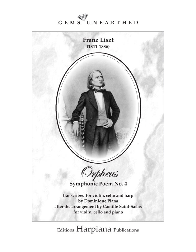 Liszt Orpheus Symphonic Poem Arr Saint Saënspiana For Violin Cello Harp