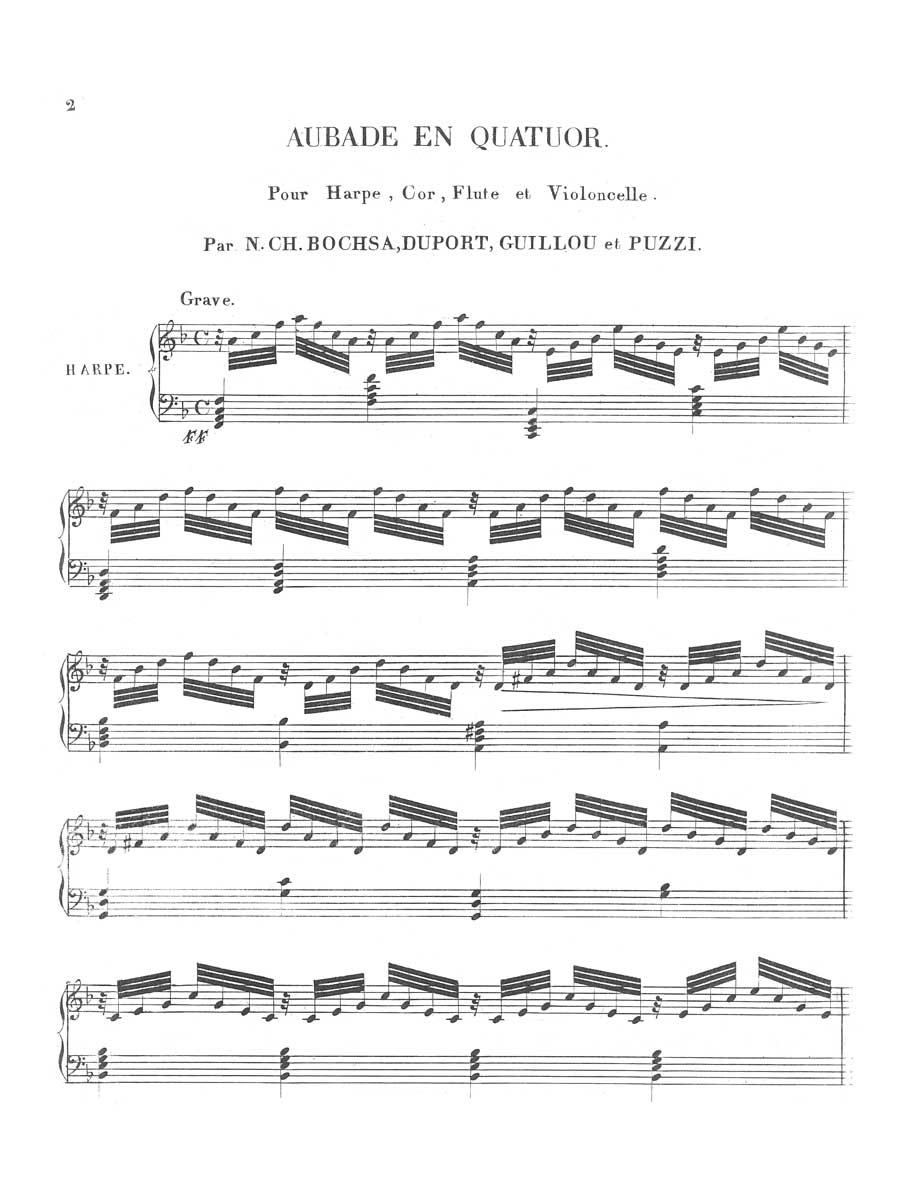Sample page - Bochsa,-Aubade-En-Quatuor-2