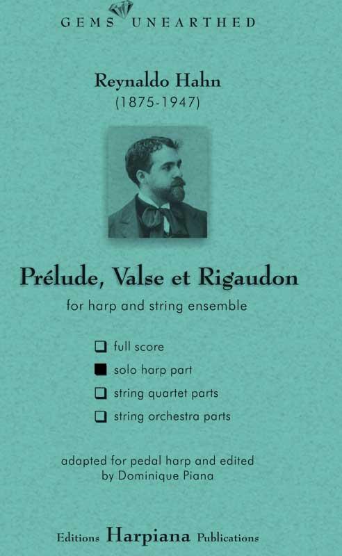 Hahn- Prelude Valse et Regaudon-solo-harp