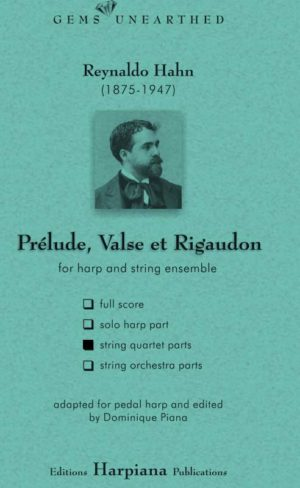 Hahn- Prelude Valse et Regaudon-string-quartet-parts