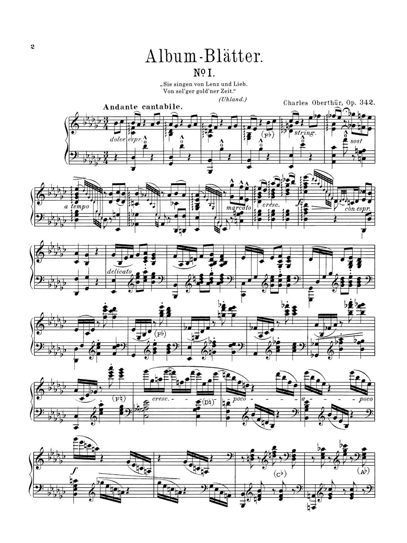 Oberthur Albumblatter op 342 page 1