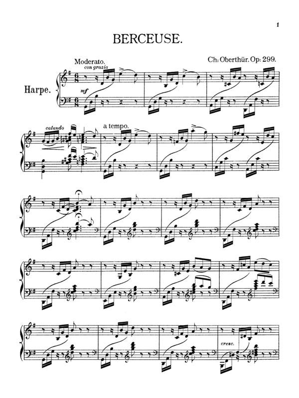 Oberthur Berceuse harp part